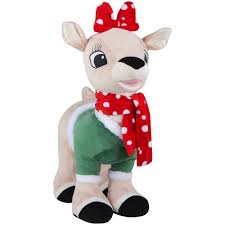 rudolph red nose reindeer holiday greeter clarice winter