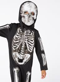 Glow In The Dark Halloween Shirts by Fancy Dress Black Halloween Glow In The Dark Skeleton With Mask