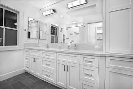 pure white bathroom griffin custom cabinets