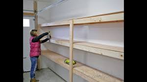 what of wood is best for shelves how to build garage shelving easy cheap and fast