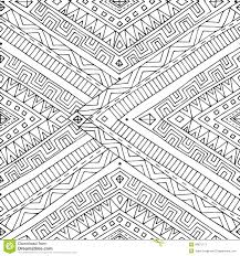 seamless asian ethnic doodle black white pattern stock vector