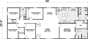 5 bedroom mobile homes floor plans 5 bedroom manufactured homes home design plan