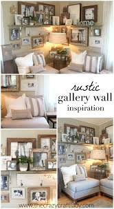Wall Ideas by Best 25 Rustic Gallery Wall Ideas On Pinterest Family Collage