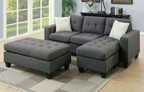 couch and ottoman set f6920 blue grey reversible polyfiber sofa couch sectional ottoman