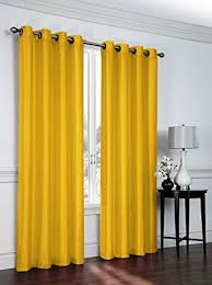 Yellow Faux Silk Curtains 2 Faux Silk Grommet Curtain Panels 54 By 84