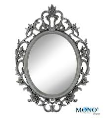 Decorative Framed Mirrors Amazon Com Monoinside Small Decorative Framed Oval Wall Mounted