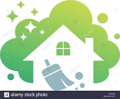 home cleaning cleaning service building cleaning vector stock