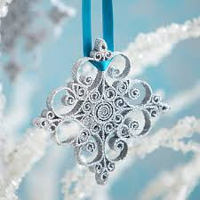 Glitter Snowflake Christmas Tree Decorations by 25 Christmas Ornaments To Make U2013 The Ornament