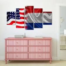 usa and dutch flag multi panel canvas wall art u2013 elephantstock