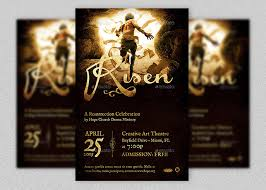 risen church flyer template is for easter season events great for