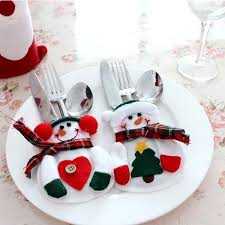new stylish snowman tableware bags set novelty