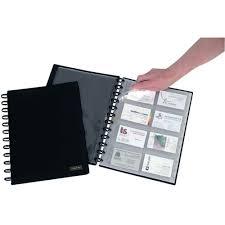 reliure bureau reliure card pour 192 cartes de visite a4 noir adoc system