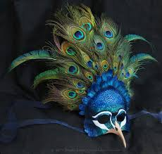 feather mask royal peacock leather and feather mask by windfalcon on deviantart