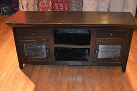 Credenza Tv Rustic Painted Distressed Reclaimed Solid Wood Black Credenza Tv