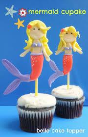 belle cake topper and mould mermaid cupcake tutorial mermaid