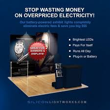 battery powered trade show exhibit lighting silicon lightworks