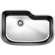 Undermount Stainless Steel Sink Blanco Wave Undermount Stainless Steel 37 In 1 3 4 Basin Kitchen