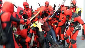 Trashing by There Was A Huge Group Of Deadpools At Comic Con Today They Were