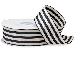 black and white striped ribbon black and white striped cabana ribbon 1 1 2 x25 yds 42939