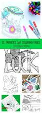 st patrick u0027s day felt shamrock necklace tutorial printable pattern