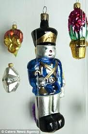 impuls poland blown painted glass santa