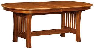 arts u0026 crafts trestle dining table home and timber
