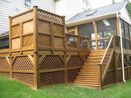 breathtaking front porch lattice oak deck decor materials for