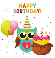 owl balloons owl happy birthday background with balloons and place for y