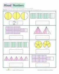 mixed numbers worksheet education com