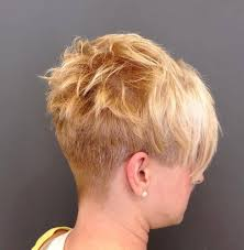 layered buzzed bob hair short hairstyle with a buzzed nape hairstyles