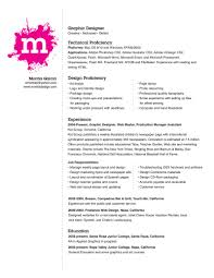 graphic design resume cover letter graphic designer resume format examples