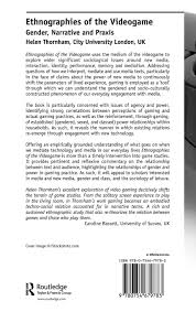 ethnographies of the videogame gender narrative and praxis