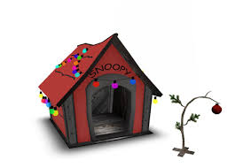 brown christmas snoopy dog house second marketplace catnip brown christmas set