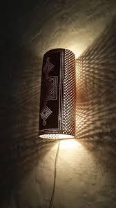 applique in cotto applique a parete verticale traforato a mano dimensione cm 30