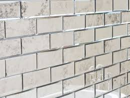 Mirror Bathroom Tiles 200x75 Antiqued Bevelled Mirror Brick Tiles My Furniture
