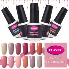 amazon com clavuz gel nail art polish uv led soak off gel nails