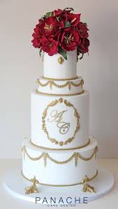Wedding Cake London Regal Opulent Wedding Cake London Contemporary Sugar Flowers Red