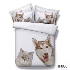 cute cat and dog friends 3d hd animal print bedlinen buy unique