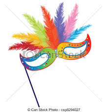 mardi mask vectors illustration of colored mardi grass mask with feathers