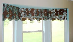 moder red bay window valance rod that seems elegant can be applied