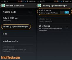 mobile hotspot for android how to password protect wifi hotspot in android