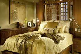 home design luxury fitted simple bedroom with wooden couch on