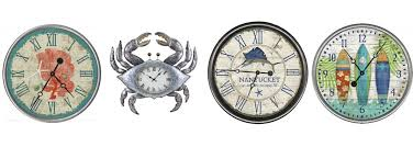 themed wall clock coastal and nautical themed wall clocks