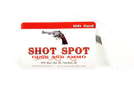 gift card reseller spot guns and ammo gift card