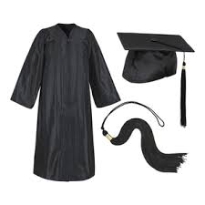 black cap and gown graduation cap and gown