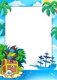 the happy pirate cartoon frame pirate photo frame pirate photo