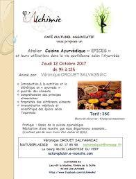 la cuisine ayurv馘ique atelier cuisine ayurvédique des bourians