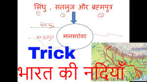 India River Map by Trick For Rivers Of India U0026 Drainage System River Source Of