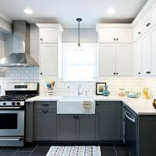 Two Tone Kitchen Cabinet Kitchen Two Tone Kitchen Cabinets Base Light On Top And