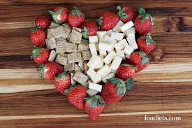 heart shaped crackers strawberries cheese and crackers 3 easy ways for s day